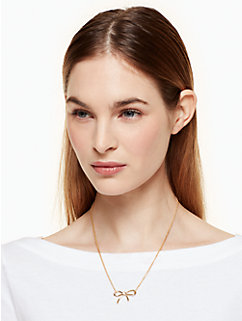 dainty sparklers bow pendant by kate spade new york