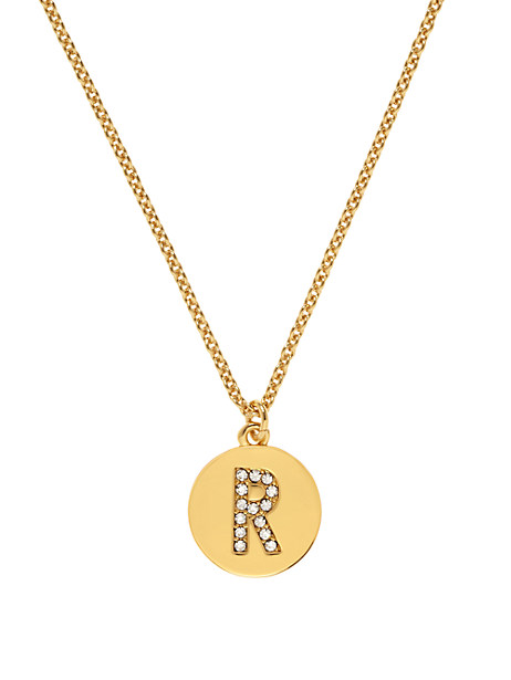 Kate Spade Pave Initial Pendant, R