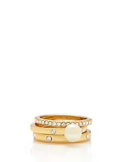 pearly delight stackable rings by kate spade new york
