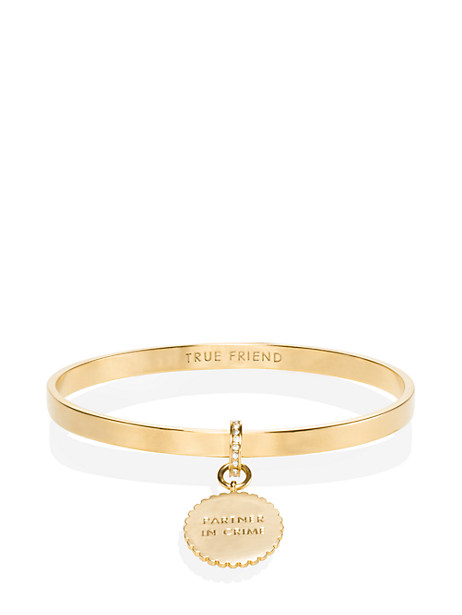 say yes scalloped partners in crime bangle by kate spade new york