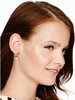 dainty sparklers two tone reversible earrings by kate spade new york