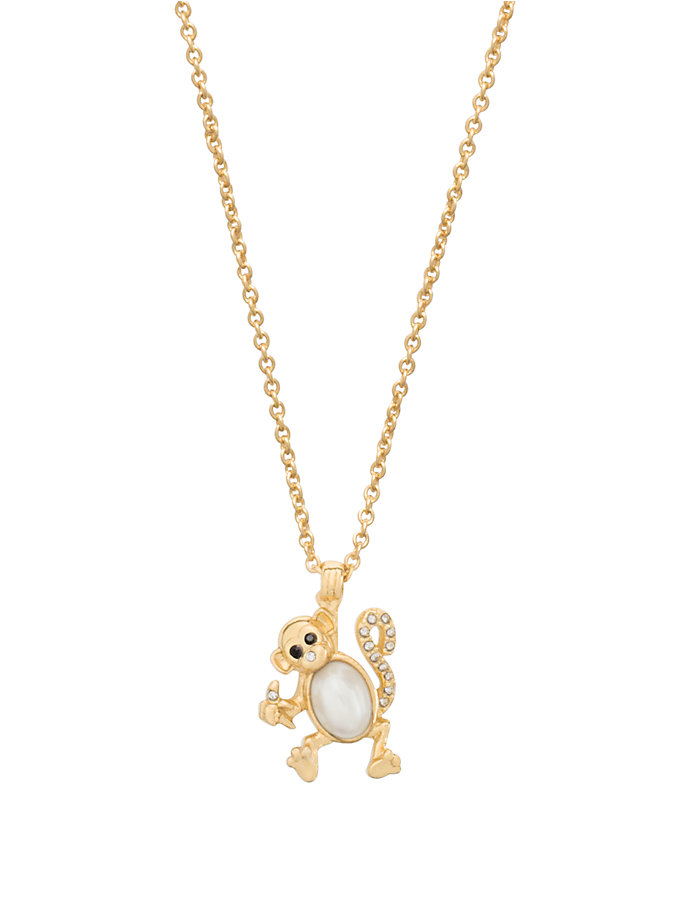monkey see monkey do mini pendant, cream multi