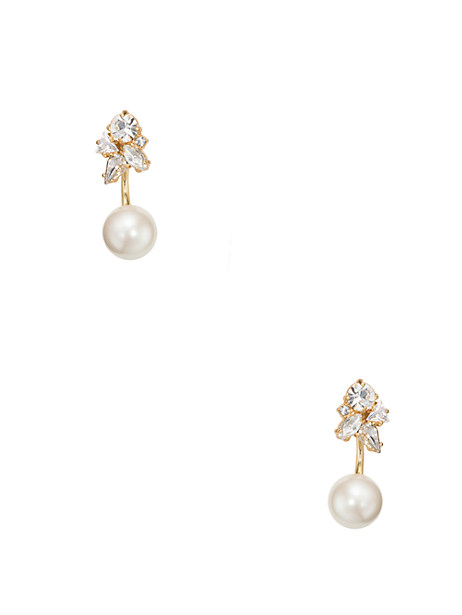 Dainty Sparklers Cluster Ear Jacket, Clear