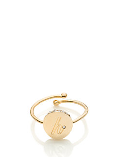 forever mine initial ring by kate spade new york