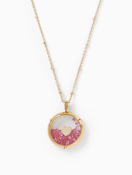 Kate Spade Shake Things Up Heart Of Gold Pendant, Pink