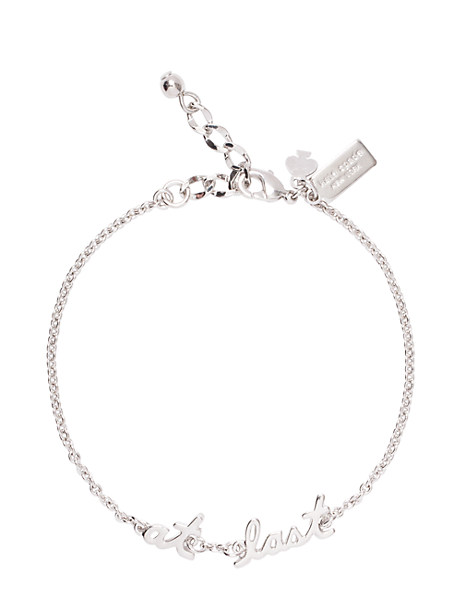 Kate Spade Say Yes At Last Bracelet, Silver