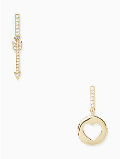 be mine heart and arrow drop earrings by kate spade new york