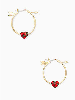 be mine heart and arrow hoops by kate spade new york