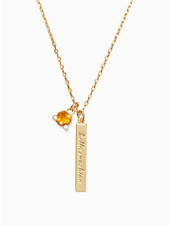 born to be november pendant by kate spade new york