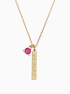 born to be october pendant by kate spade new york