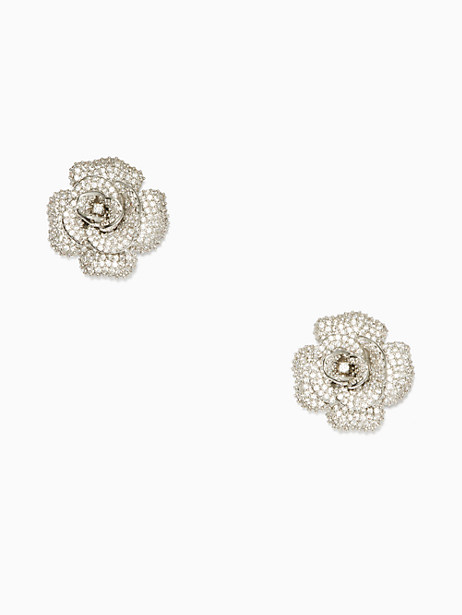 Kate Spade Midnight Rose Rose Studs, Clear