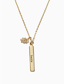 #livecolorfully bestie bar pendant by kate spade new york