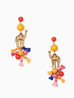 spice things up camel statement earrings by kate spade new york