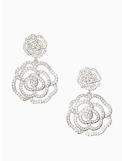 crystal rose drop earrings by kate spade new york