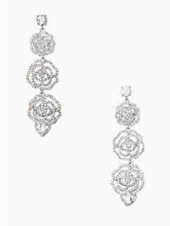 crystal rose linear earrings by kate spade new york