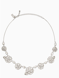 crystal rose necklace by kate spade new york