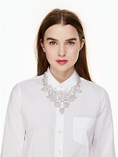 crystal rose statement necklace by kate spade new york