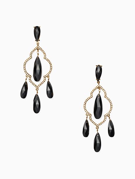 Kate Spade Lantern Gems Chandelier Earrings, Black