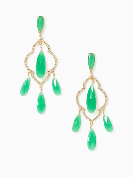 Kate Spade Lantern Gems Chandelier Earrings, Green
