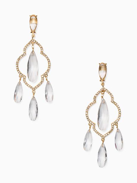 Kate Spade Lantern Gems Chandelier Earrings, Clear