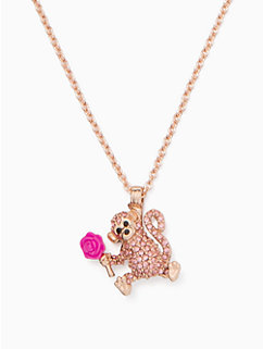 rambling roses monkey mini pendant by kate spade new york
