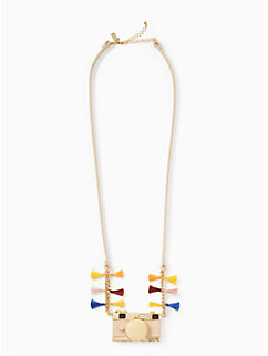 spice things up camera necklace by kate spade new york
