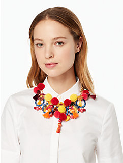pretty poms statement necklace by kate spade new york