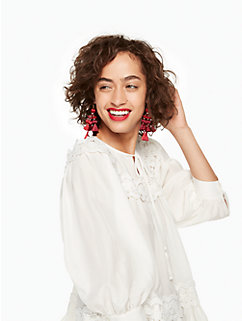 pretty poms tassel statement earrings by kate spade new york