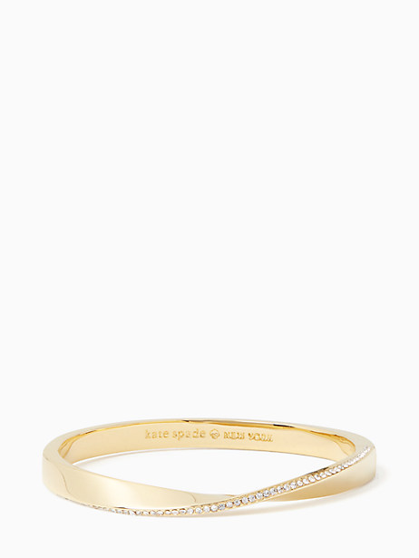 do the twist pave hinged bangle by kate spade new york