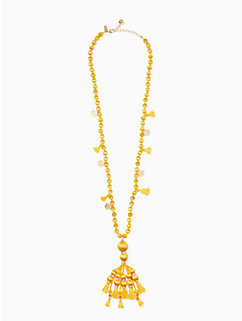 pretty poms tassel pendant by kate spade new york