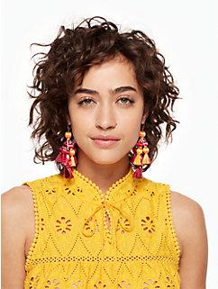pretty poms tassel statement earrings by kate spade new york
