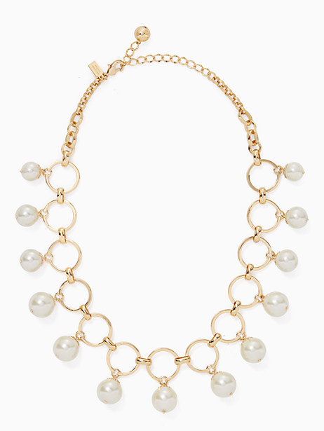 Kate Spade Start A Movement Statement Necklace, Cream