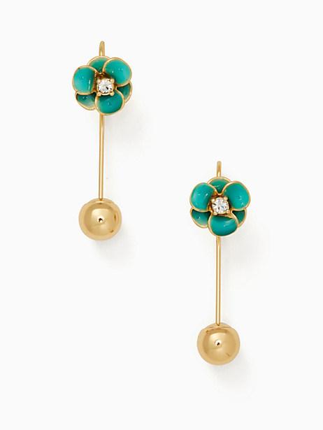 Kate Spade Shine On Flower Hanger Earrings, Turquoise