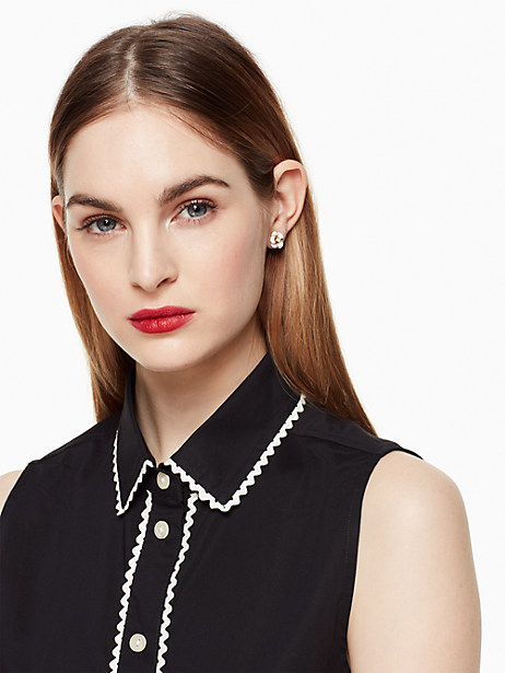 shine on flower studs by kate spade new york
