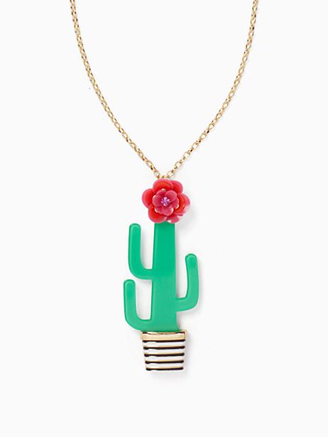 Kate Spade Scenic Route Cactus Pendant