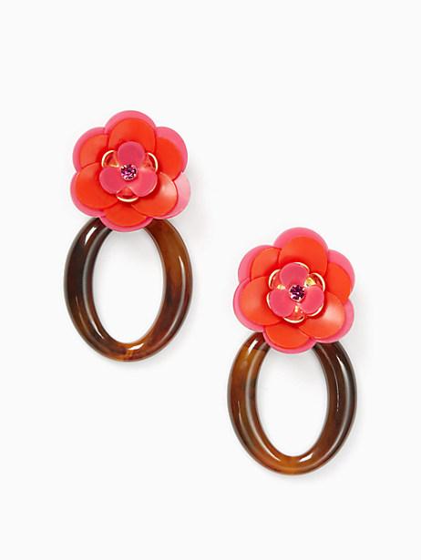 Kate Spade Rosy Posies Statement Earrings, Pink
