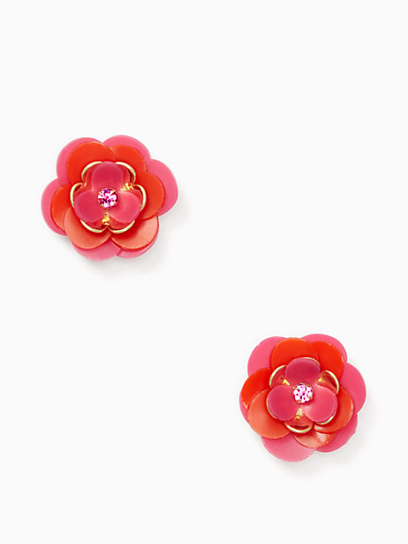 Kate Spade Rosy Posies Statement Studs, Pink