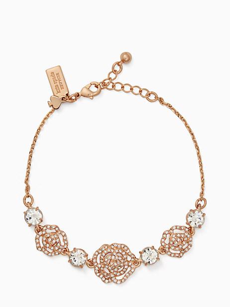 Kate Spade Crystal Rose Bracelet, Clear/Rose Gold
