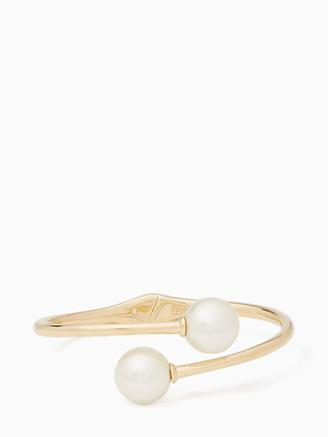 golden girl bauble open hinged cuff by kate spade new york