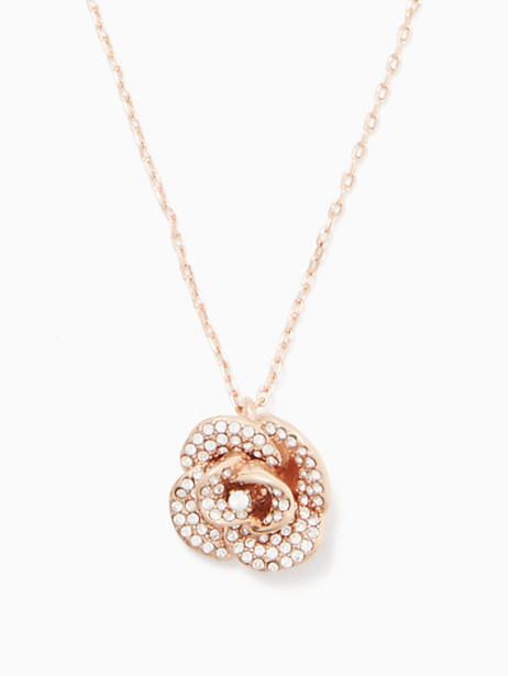 Kate Spade Midnight Rose Mini Pendant, Clear/Rose Gold