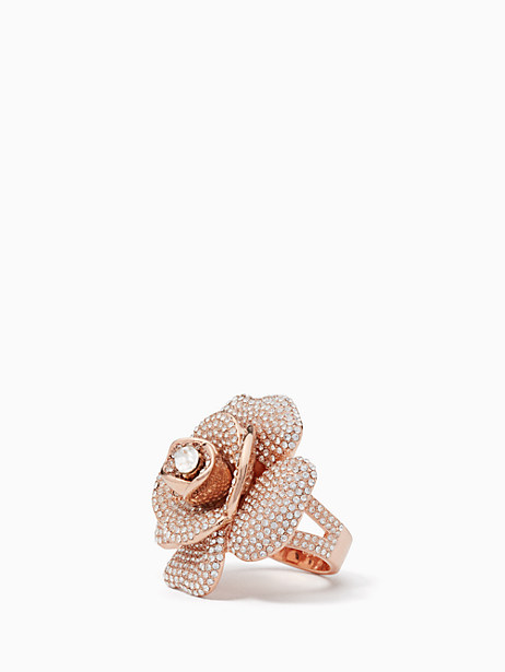 Kate Spade Midnight Rose Ring, Clear/Rose Gold - Size 5