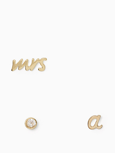 save the date mrs. initial stud set by kate spade new york