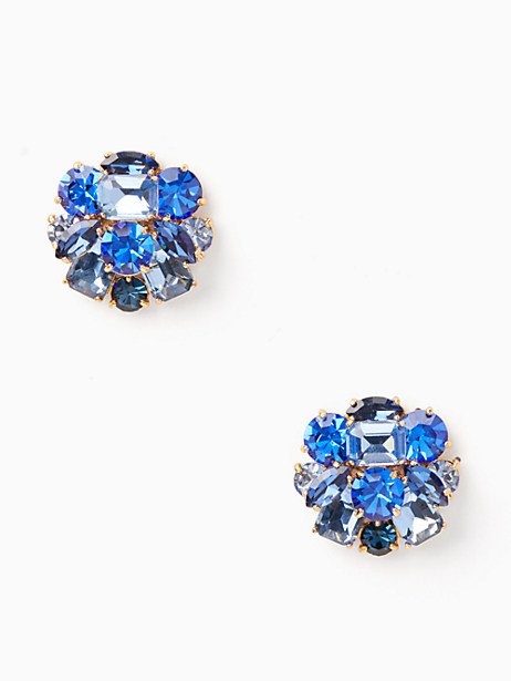 Kate Spade Shine On Cluster Studs, Blue