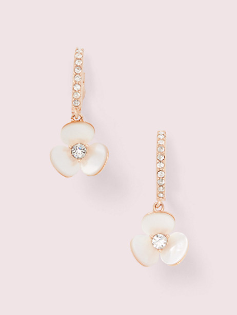 disco pansy drop earrings by kate spade new york