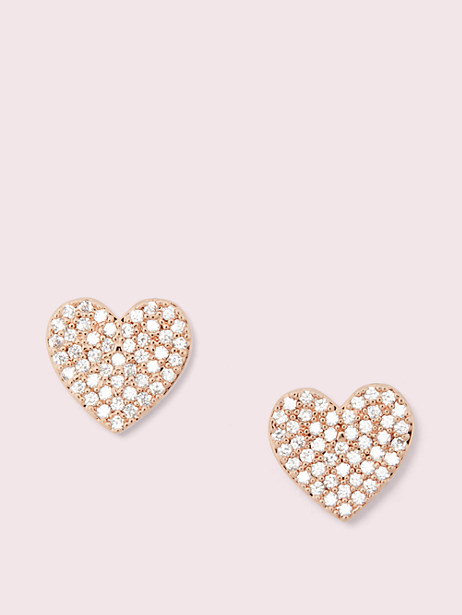 yours truly pave heart studs by kate spade new york