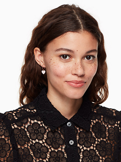 yours truly pave heart drop earrings by kate spade new york