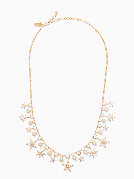 Kate Spade Seeing Stars Star Necklace, Clear/Gold