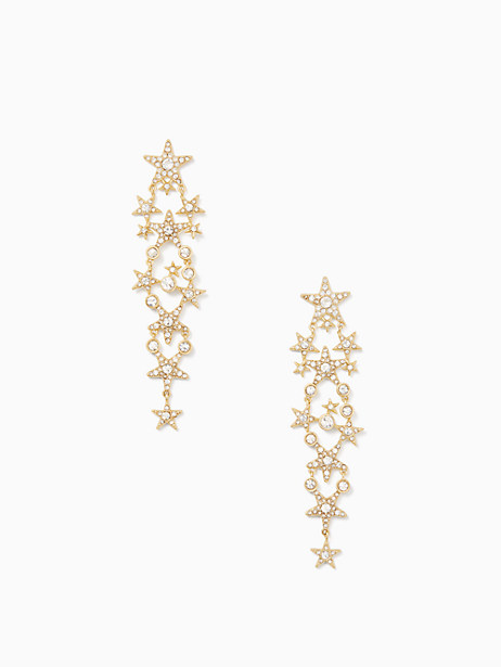 Kate Spade Seeing Stars Star Statement Earrings, Clear/Gold