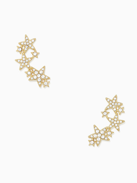 Kate Spade Seeing Stars Star Ear Pin, Clear/Gold