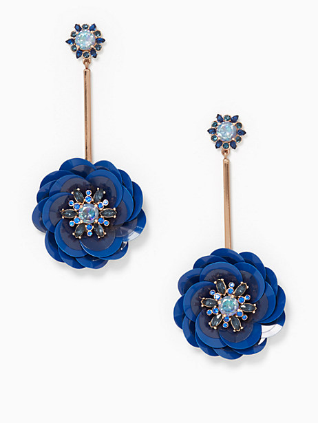 Kate Spade Snowy Nights Linear Statement Earrings, Navy
